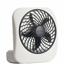 """O2COOL 5"""" Battery Operated Portable Fan in White/Grey 