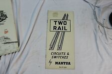 HO TRAIN 1946 VINTAGE MANTUA TWO RAIL CIRCUITS AND SWITCHES PAMPHLET  (4)