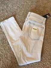 Women's NEW HELMUT LANG Sz 27 Light Ivory Ankle Skinny Jeans