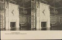 Francia Fontainebleau Camino Napoleone III Stereo Cartolina Héliotypie c1920