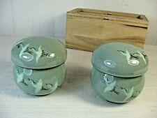 Korean Jade Green Porcelain Tea Cup Set with Infuser & Lid