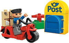 LEGO Duplo Ville Postman (5638) and School Bus 5636 and Police w/ Motorcycle