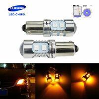2x Ampoules LED  10W Orange Feu de Jour Clignotant Tuning Lampe Ambre 12V
