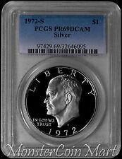 1972-S Silver Eisenhower Dollar PCGS PR69DCAM : A Top Ike $1 Source In The USA!