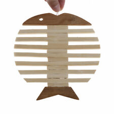 Apple and Fish Wooden Table Placemats Heat Insulation Kitchen Accessories N6t Fish