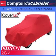 Housse Coverlux+ sur-mesure en Jersey rouge pour Citroën 2 CV cabriolet
