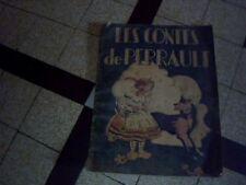 livre ancien pour enfant illustré les contes de perrault annee 1946