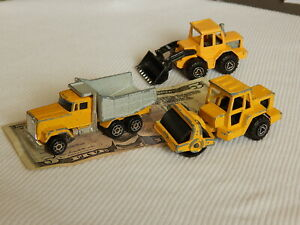 MAJORETTE Construction, 3  Diecast Toy Vehicles Roller Tracto Dump Truck, France