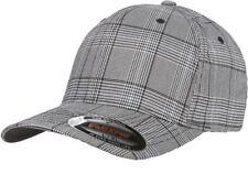 Flexfit 6196 Fitted Ballcap Blank Cap Blank Golf Glen Check Hat Plaid Flex Fit