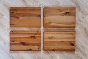 4 Stück IKEA LEKSVIK Regalboden 46x30cm Holz antik gebeizt Einlegeboden Böden