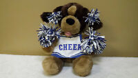 "15"" Cheerleader Dog with Pom-Poms, Plush Toy, Doll, Stuffed Animal, Build-A-Bear"