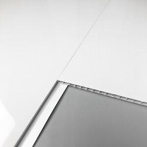 8 Gloss White Bathroom Wall PVC Cladding Ceiling Shower Plastic Panels