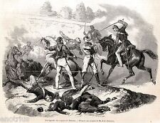 Battaglia di Milazzo: Garibaldi nella mischia salvato da Missori. Sicilia. 1860
