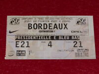[COLLECTION SPORT FOOTBALL] TICKET PSG / BORDEAUX 7 FEVRIER 2002 Champ.France