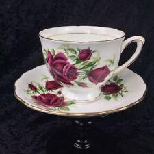Tea Cup & Saucer Red Porcelain & China