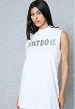 Women's Nike Sportswear JDI Hologram Tank, 886261-100, Size Small, White