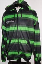 SESSIONS Mens Large L striped hoodie/hooded Sweatshirt
