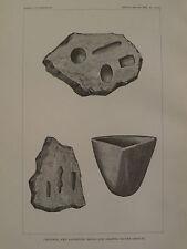 Navajo Indian Silversmiths Crucibles & Molds Engraving 1883