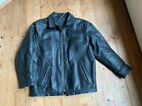 Bomberjacke Harrington Lederjacke Motorradjacke schwarz 90er vintage S