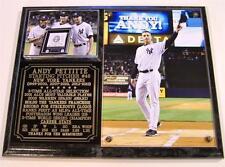 Andy Pettitte #46 New York Yankees Retirement Black Marble Photo Plaque