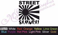 * STREET SAMURAI * Car Decal, Vinyl, Funny, Drift Sticker, JDM Rising Sun