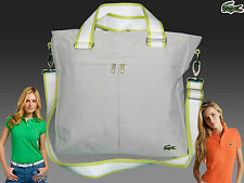 LACOSTE Womens Ladies Shoulder Bag Vertical TOTE Bag Casual 24 Grey AUTHENTIC