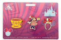 NEW Disney Minnie Mouse The Main Attraction Pin Set Mad Tea Party March 2020