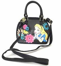 Alice in Wonderland Purse Tote Shoulder Bag Loungefly Disney Crossbody Black
