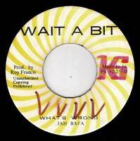 "JAH BABA-what's wrong  wait a bit 7""  (hear) DJ cut to Chantells-children of jah"