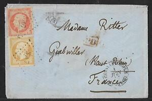 FRENCH PO LEVANT TO FRANCE NAPOLEON COVER 1857