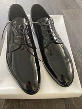 Barneys NY Black Patent Leather Men's Dress Tuxedo Shoes In Size 10M