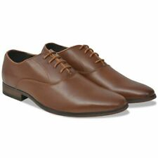 vidaXL Men's Business Shoes Lace-Up Brown Size 9.5 PU Leather Formal Footwear