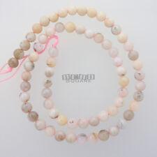 "15.8"" Natural Pink Peruvian Opal Round Beads approx. 6mm (6 - 6.4mm) #20158"