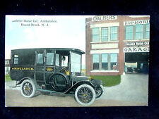 c.1910 Bolmer Motor Car Ambulance & Garage Bound Brook NJ post card
