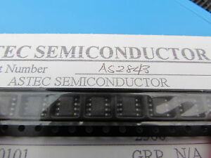 AS2843/D-8 ASTEC Current Mode PWM Controller 8pin SOIC UC3843 10 pieces USA