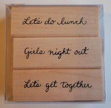 Lot de 3 tampons en caoutchouc Permet de faire déjeuner, Soirée entre filles, permet de se rendre Ensemble