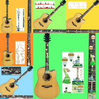 Guitar Fretboard Decals Sticker Guitar Neck Headstock Bass Ukulele Thin Stick YK