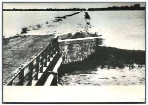 Italia, Gorgo, Inondations de 1958 Vintage silver print Tirage argentique  1