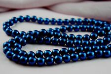 *110pcs Beads-8mm Dark Blue Color Imitation Acrylic Round Loose Pearl Spacer*