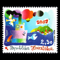 Croatia 2001 - Millennium Stamp Animation - Sc 444 MNH