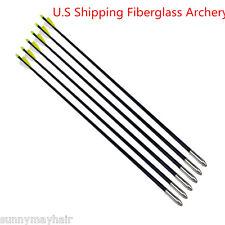 US Seller 6p Archery 31'' Fiberglass Arrows Target Practice Compound Recurve Bow