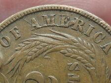 Two 2 Cent Piece- XF/AU Details- WE Bold- Severe Die Crack Mint Error!