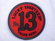 ECUSSON PATCH THERMOCOLLANT aufnaher toppa LUCKY 13 biker rockabilly hot rod