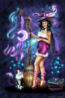 The Purrfect Spell by Brigid Ashwood Art Print Poster 12x18 inch
