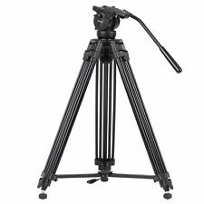 "Professional Heavy Duty 61"" DV Video Camera Tripod Stand w/Fluid Pan Head Kit"