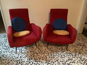 MID CENTURY PAIR LADY Lounge chairs and Sofa by Marzo Zanuso Gio Ponti italy 50s