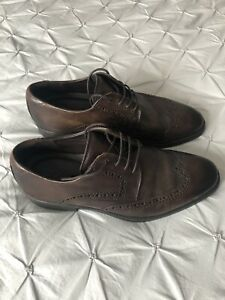 Ecco Men's brown leather shoes - size 42 UK 8