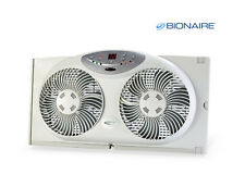Bionaire Digital Twin Reversible Airflow Window Fan w/ Remote Control Brand New