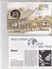 Numisbriefe aus aller Welt - Malaysia - und Infokarte