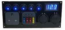Switch Panel USB 12V CBE 1 x 240V 1 x Fuse Holder Horse Box Caravan Campervan